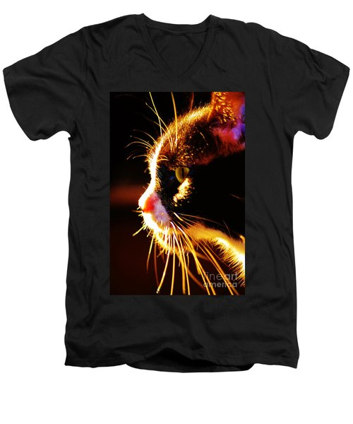 Irie Cat Men's V-Neck T-Shirt