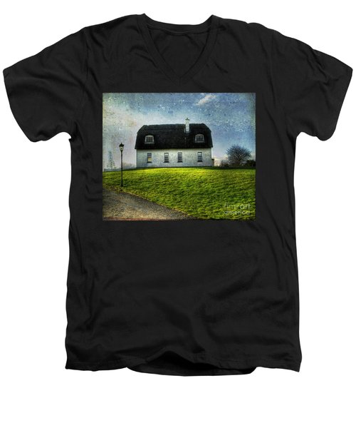 Irish Thatched Roofed Home Men's V-Neck T-Shirt by Juli Scalzi