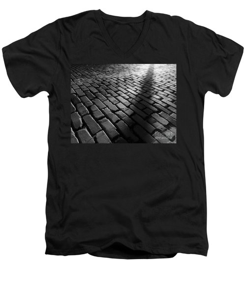 Men's V-Neck T-Shirt featuring the photograph Is Someone There by James Aiken