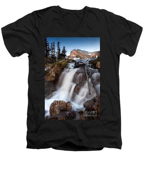 Isabelle Falls Men's V-Neck T-Shirt by Steven Reed