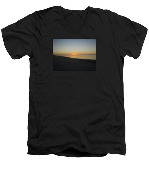 Men's V-Neck T-Shirt featuring the photograph Island Sunset by Robert Nickologianis
