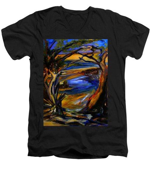 Island Waters St. Kitts Men's V-Neck T-Shirt