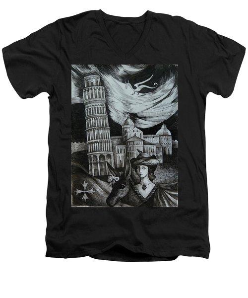 Italian Fantasies. Pisa Men's V-Neck T-Shirt