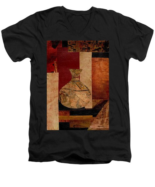 Italian Urn Collage Men's V-Neck T-Shirt by Patricia Cleasby