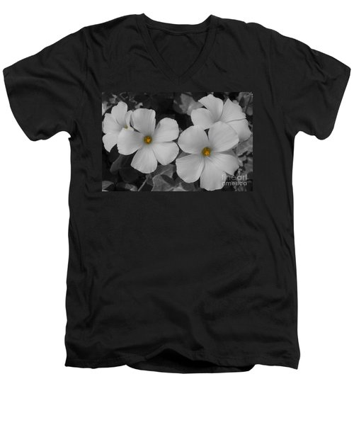 Men's V-Neck T-Shirt featuring the photograph Its Not All Black And White by Janice Westerberg