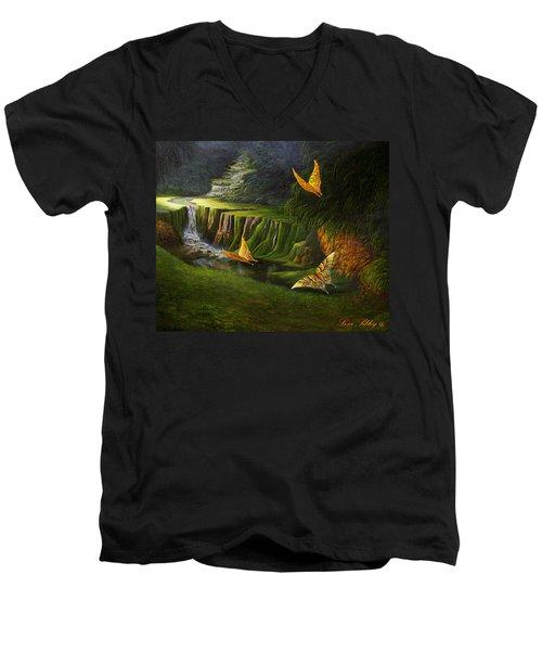 Gods Promise Men's V-Neck T-Shirt by Loxi Sibley