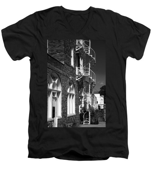 Jacaranda Hotel Fire Escape Men's V-Neck T-Shirt