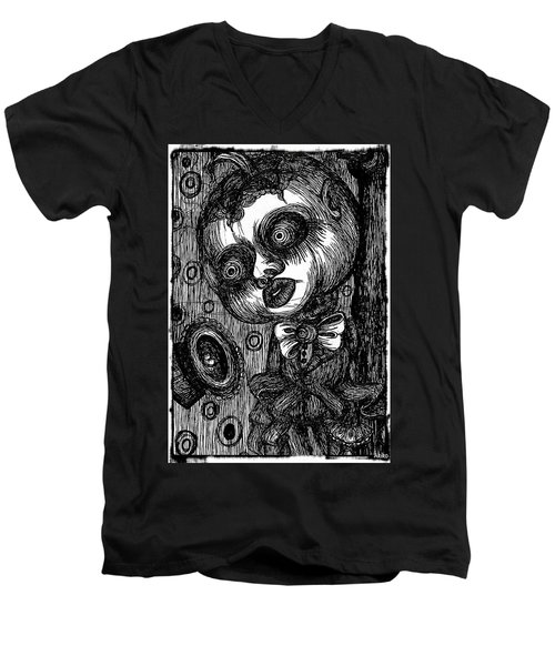 Jack O Lantern Men's V-Neck T-Shirt by Akiko Okabe