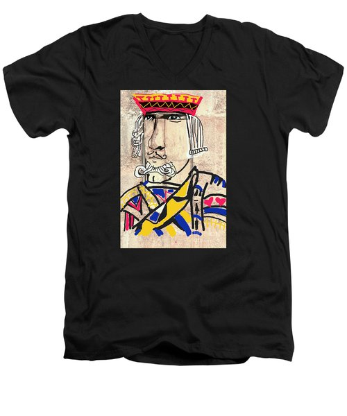 Jack The King Men's V-Neck T-Shirt by Joe Jake Pratt