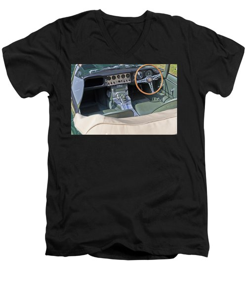 Jaguar E-type Series 1 Men's V-Neck T-Shirt by Maj Seda