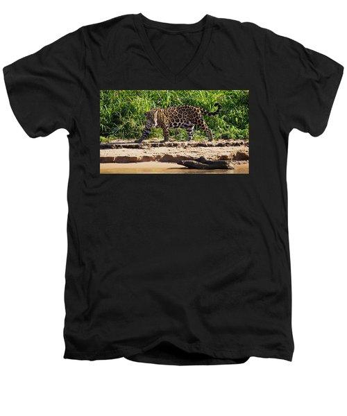 Jaguar River Walk Men's V-Neck T-Shirt