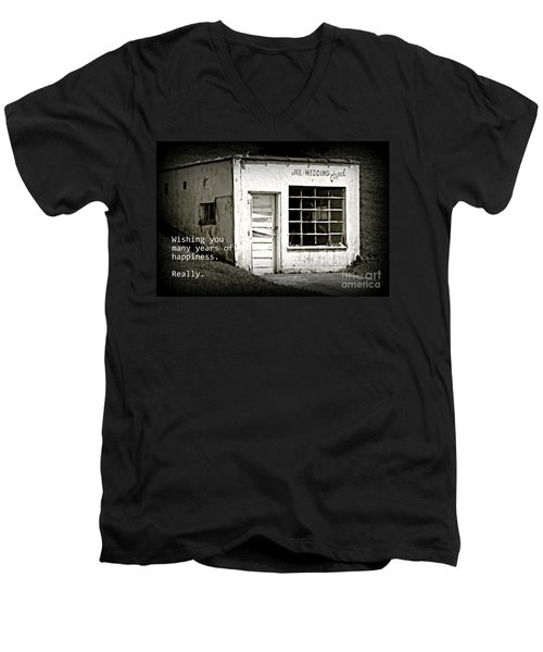 Jail And Wedding Chapel Men's V-Neck T-Shirt