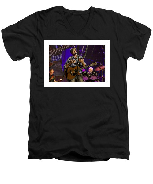 Men's V-Neck T-Shirt featuring the photograph James Taylor Sweet by Alice Gipson