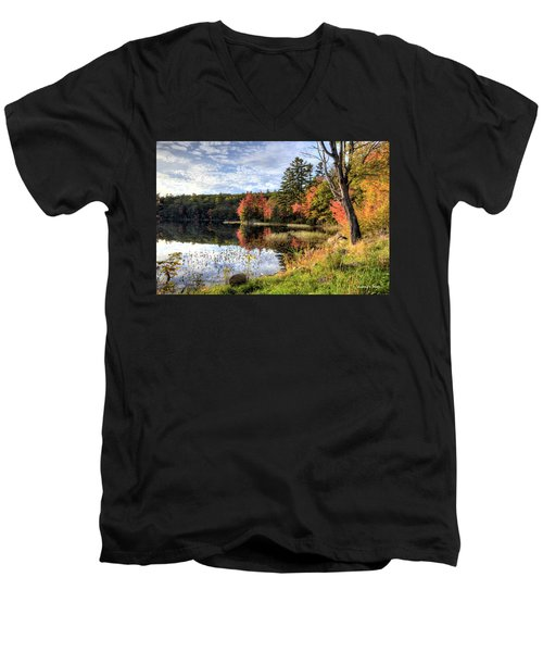Jamie's Pond Men's V-Neck T-Shirt