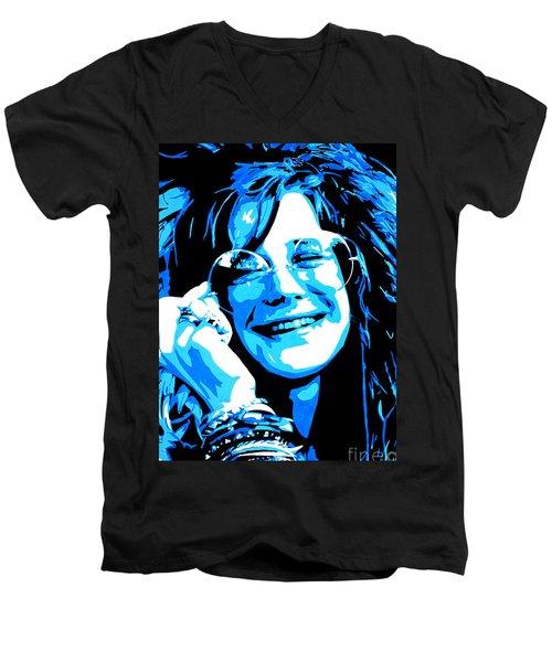 Janis Joplin. Men's V-Neck T-Shirt