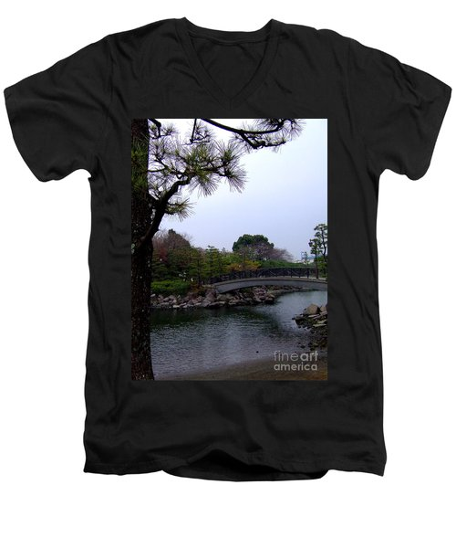Men's V-Neck T-Shirt featuring the photograph Japan by Andrea Anderegg
