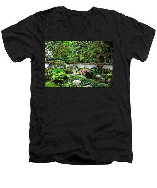 Japanese Gardens Men's V-Neck T-Shirt