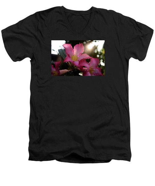 Men's V-Neck T-Shirt featuring the photograph Jardin Du Matin by Miguel Winterpacht