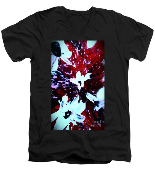 Men's V-Neck T-Shirt featuring the painting Jasmine In My Mind  by Jacqueline McReynolds