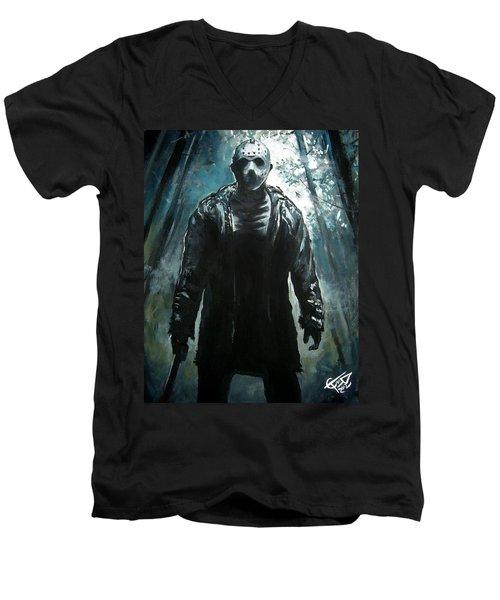 Jason Men's V-Neck T-Shirt by Tom Carlton