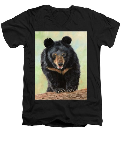 Jasper Moon Bear - In Support Of Animals Asia Men's V-Neck T-Shirt
