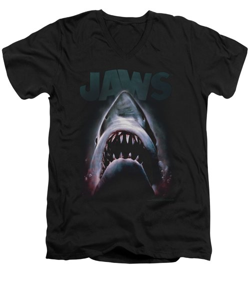 Jaws - Terror In The Deep Men's V-Neck T-Shirt