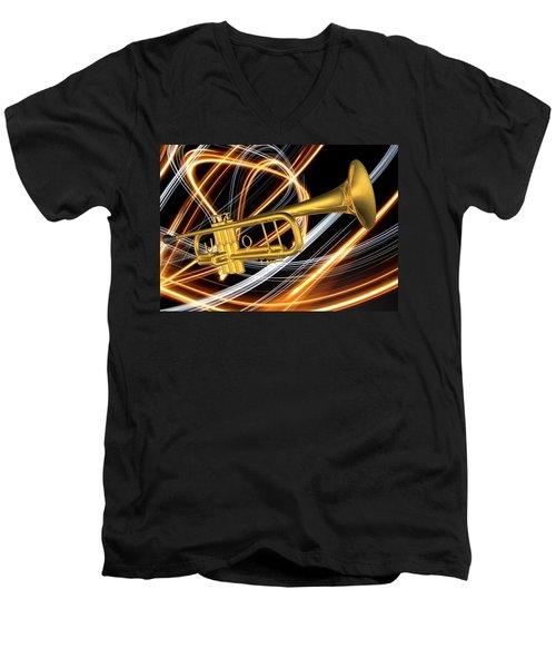 Jazz Art Trumpet Men's V-Neck T-Shirt