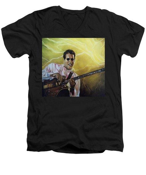 Jazz Men's V-Neck T-Shirt by Emery Franklin