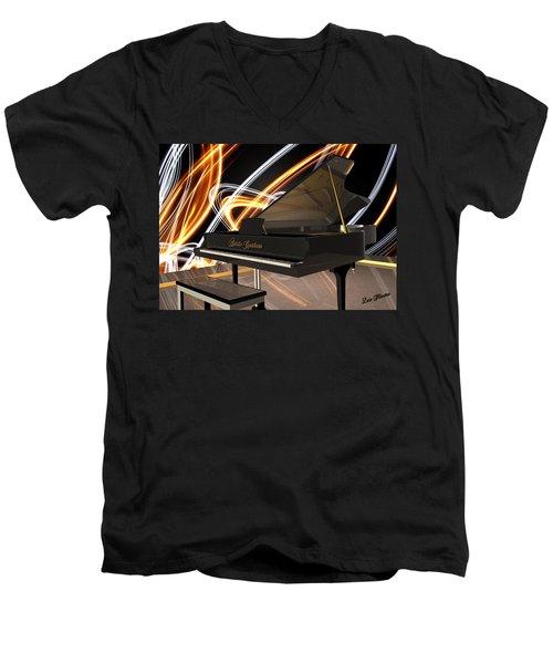 Jazz Piano Bar Men's V-Neck T-Shirt