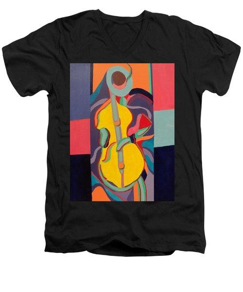Jazzamatazz Cello Men's V-Neck T-Shirt