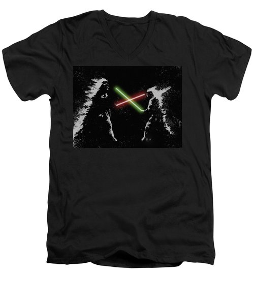 Jedi Duel Men's V-Neck T-Shirt