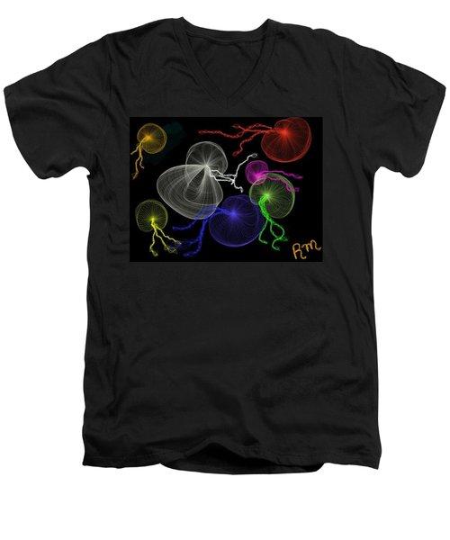 Jellyfish Jam Men's V-Neck T-Shirt