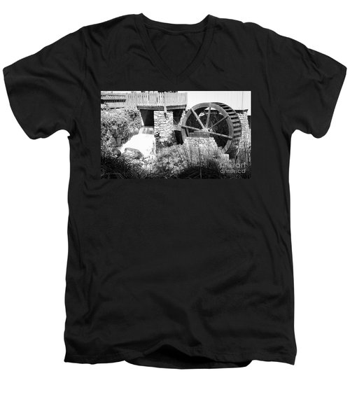 Jenney Mill In Black And White Men's V-Neck T-Shirt
