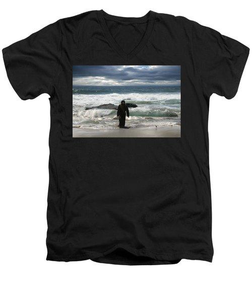 Jesus Christ- Behold I Come Quickly Men's V-Neck T-Shirt