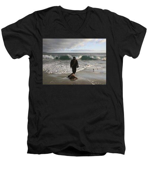 Jesus Christ- I Love You So Much Don't Cry I'm Here Men's V-Neck T-Shirt