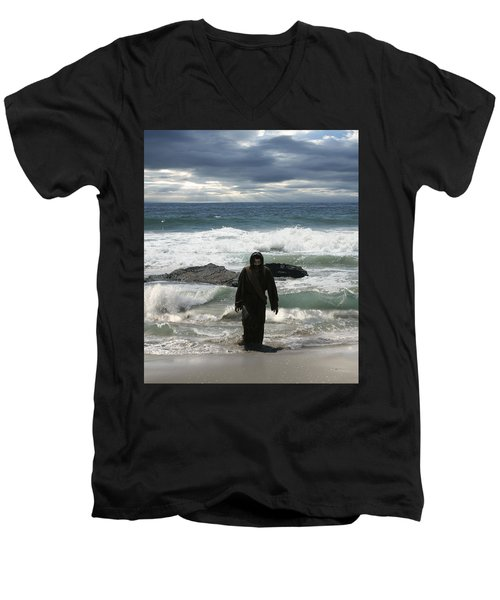 Jesus Christ- Look I Am Coming Soon Men's V-Neck T-Shirt
