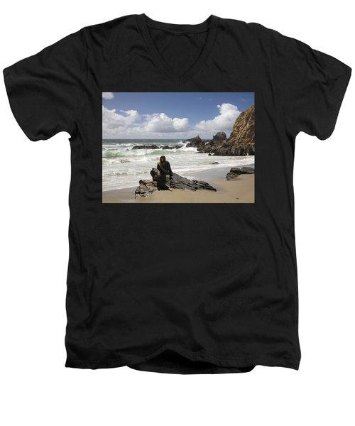 Jesus Christ- Make Time For Me I Miss You Men's V-Neck T-Shirt