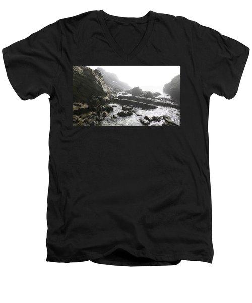 Jesus Christ- Walking Among Angel Mist Men's V-Neck T-Shirt