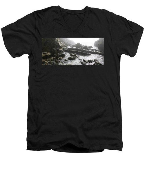 Jesus Christ- Walking With Angels Men's V-Neck T-Shirt
