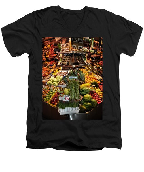 Jewels From The Market  Men's V-Neck T-Shirt by Mary Machare