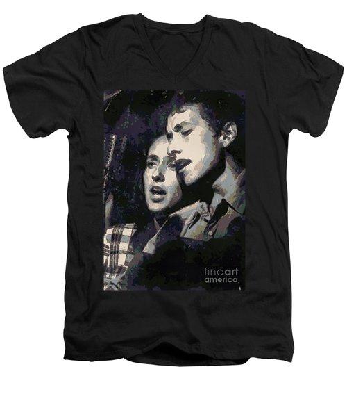 Joan Baez And Bob Dylan Men's V-Neck T-Shirt