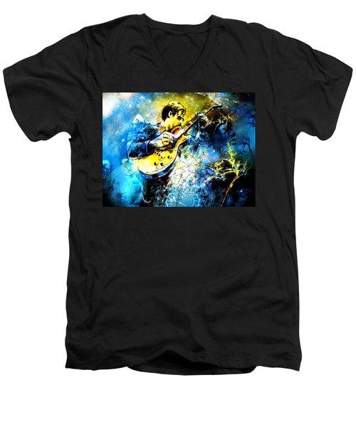 Joe Bonamassa 01 Bis Men's V-Neck T-Shirt