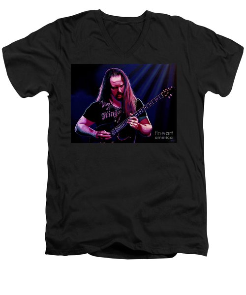 John Petrucci Painting Men's V-Neck T-Shirt