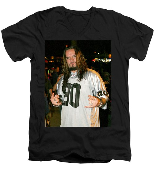 Men's V-Neck T-Shirt featuring the photograph Josey Scott by Don Olea