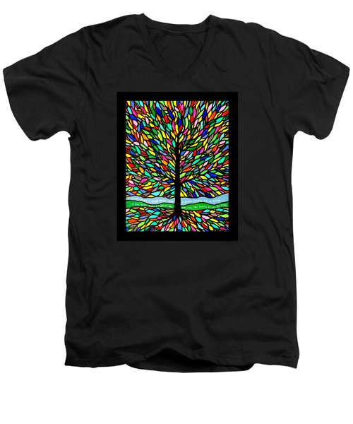 Joyce Kilmer's Tree Men's V-Neck T-Shirt