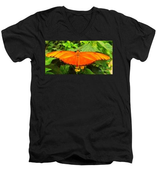 Julia Men's V-Neck T-Shirt by Clare Bevan