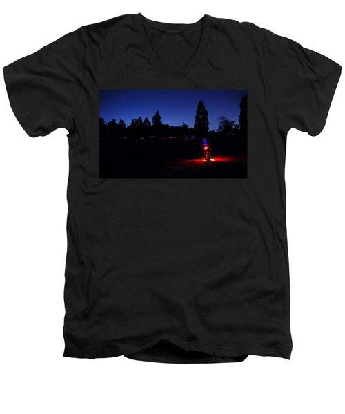 Julian Night Lights 2013 Men's V-Neck T-Shirt