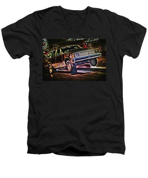 Jumping Chevelle Men's V-Neck T-Shirt by Richard J Cassato