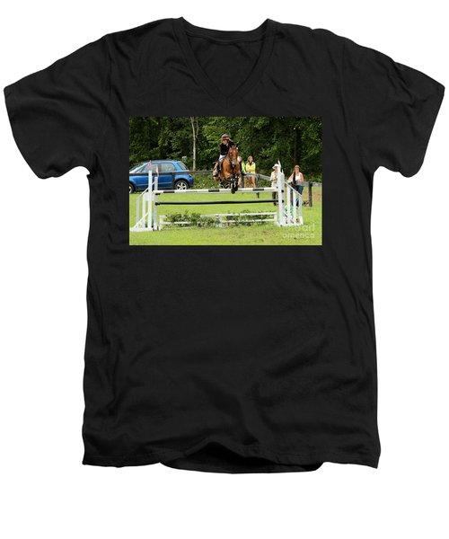 Jumping Eventer Men's V-Neck T-Shirt