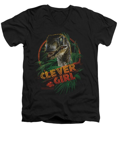 Jurassic Park - Clever Girl Men's V-Neck T-Shirt